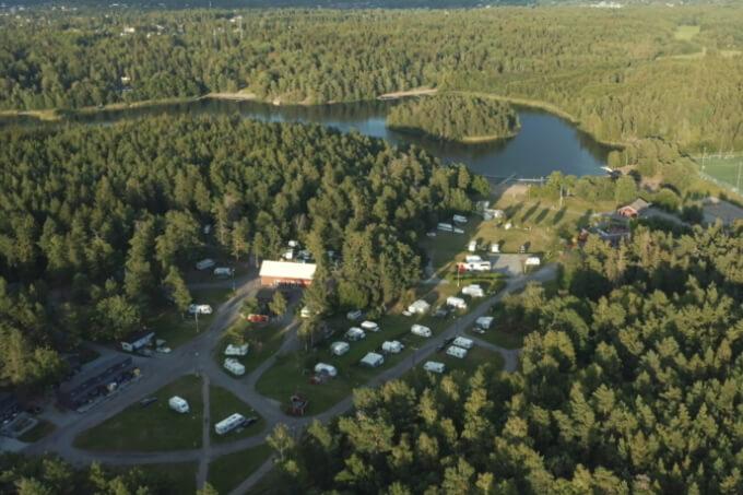 Rösjöbadens camping in Stockholm